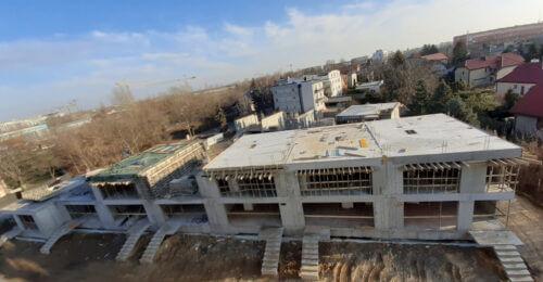 Postępy prac na budowie Rezydencji Jagiełły